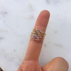 Taste the Rainbow Ring - Gold